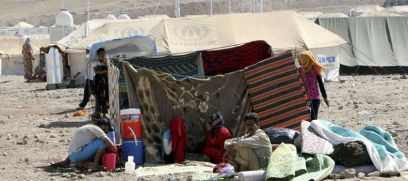 Des réfugiés syriens près d'Erbil, dans le Kurdistan irakien. 26 aout 2013. Reuters/Azad Lashkari