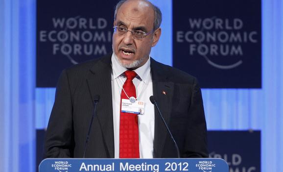 L'ancien premier ministre Tunisien lors du forum économique mondial l'année denière