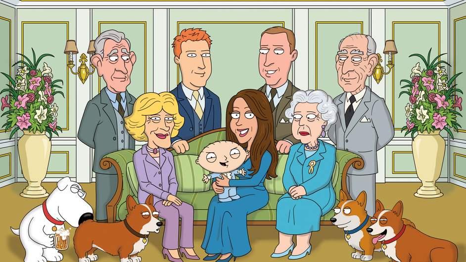 Family Guy parodie la Famille Royale pour la première fois