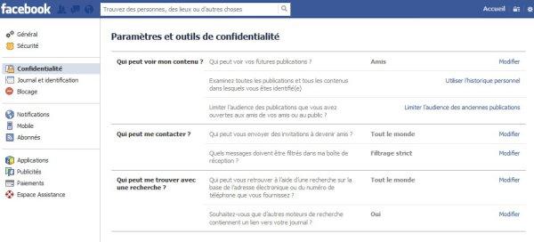 """Facebook supprime l'option de confidentialité """"qui peut trouver votre journal en cherchant votre nom"""""""