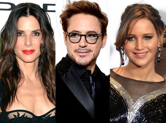 Cette année a été bonne pour  Robert Downey Jr., Sandra Bullock et Jennifer Lawrence