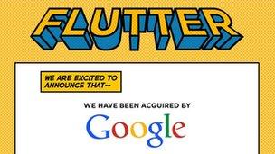 """Flutter a déclaré qu'il était """"ravi"""" d'être en mesure de poursuivre ses recherches sur la reconnaissance des gestes à Google."""
