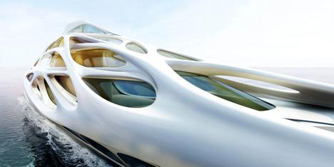 Création de Zaha Hadid d'un superyacht pour blohm + voss