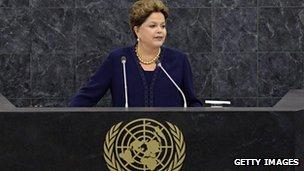 Présidente Rousseff a déclaré à l'ONU que l'interception de ses communications constituait une violation de la loi