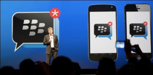 BlackBerry annonce avoir considérablement augmenté sa base d'utilisateurs