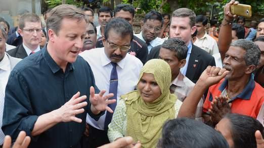 La visite de David Cameron est la première visite d'un chef d'état étranger à la région depuis 1948
