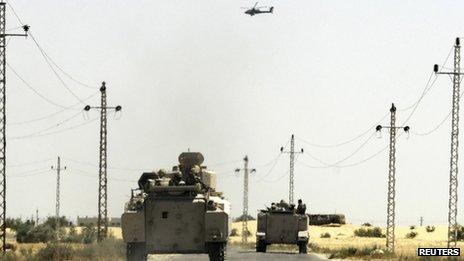 L'armée égyptienne a lancé une offensive contre les militants dans Sinaï en Septembre