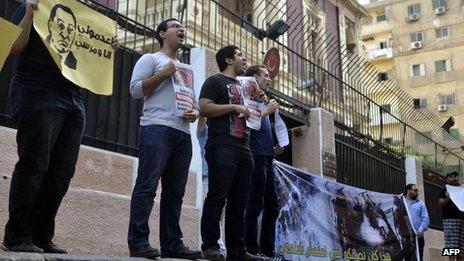 Les Egyptiens ont organisé des manifestations devant l'ambassade turque au Caire