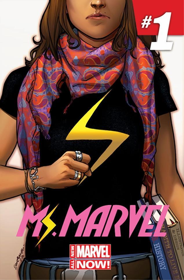 Couverture du premier numéro de la nouvelle de Ms Marvel