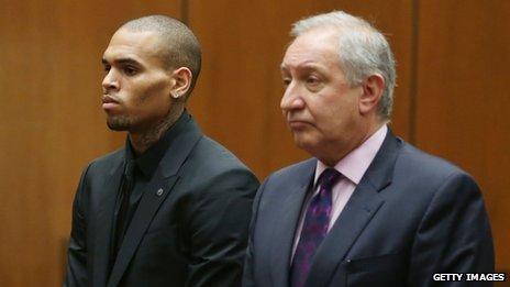 Chris Brown a comparu en cour