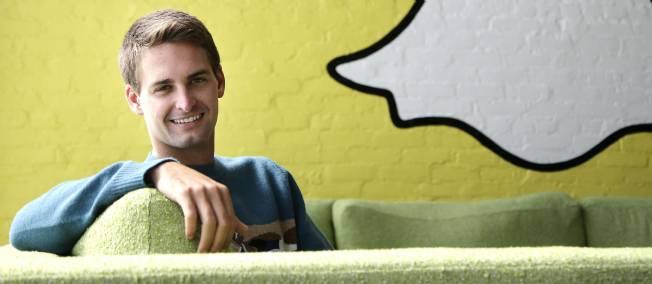 Le patron et cocréateur de Snapchat, Evan Spiegel