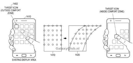 Un brevet pour mieux utiliser son smartphone avec une seule main