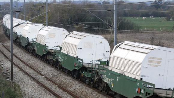 Le train de déchets nucléaires en route pour l'Allemagne