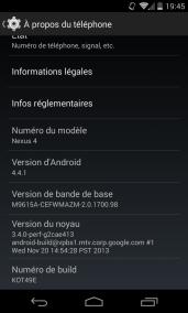 Android 4.4.1 améliore l'appareil photo du Nexus 5