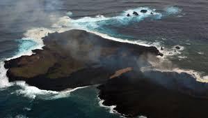 une île est apparue au large du Japon