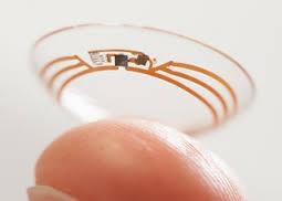 lentilles de contact intelligentes de Google avec puce connectée et capteur de glucose