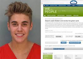 une pétition est lancée pour chasser Justin Bieber des Etats-Unis