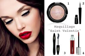 idée maquillage Saint-Valentin