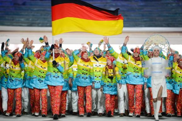 Ceremonie d'Ouverture - Equipe Allemagne