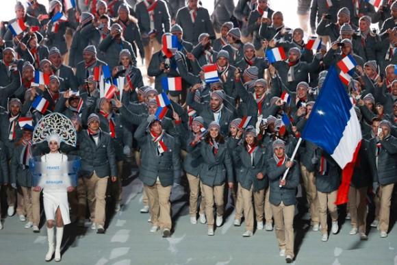 Ceremonie d'Ouverture - Equipe de France