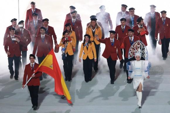 Ceremonie d'Ouverture - Equipe Espagne - Javier Fernandez