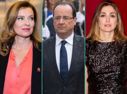 Valérie Trierweiler, François Hollande et Julie Gayet.