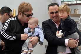 Elton John et son futur mari David Furnish