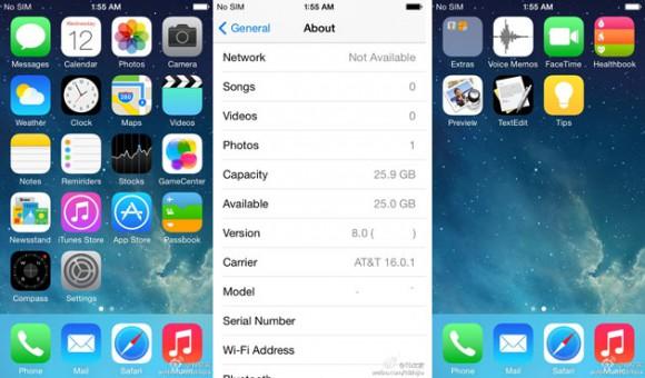 iOS 8 leaké par Weibo