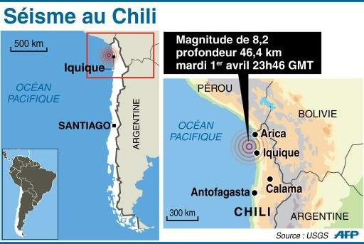 Alerte Séisme au Chili