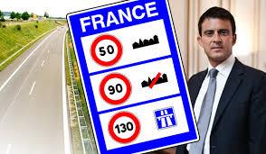 Manuel Valls envisage le passage de 90km/h à 80km/h