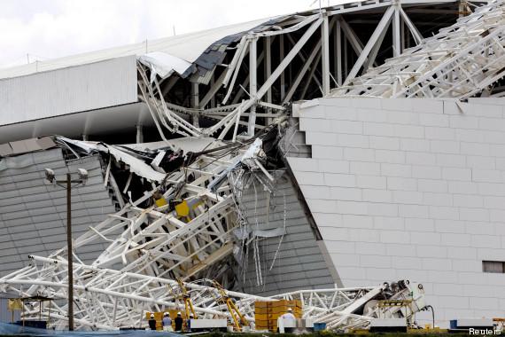 Accident au stade de Sao Paulo