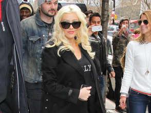 Christina-Aguilera-enceinte