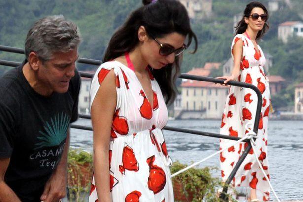 George Clooney et sa fiancée Amal Alamuddin