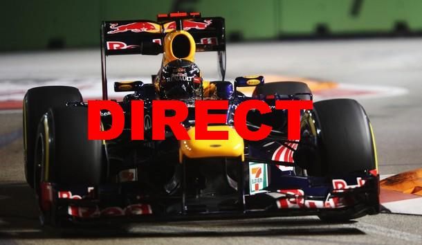 Voir qualifications F1 GP Singapour 2014 en direct live et grille de départ en streaming