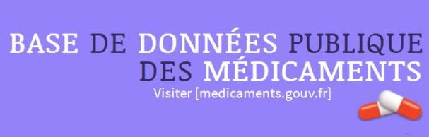 Le site  www.medicaments.gouv.fr