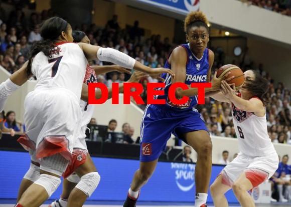 Voir match basket France Etats-Unis en direct et streaming bleues championnat monde féminin 2014