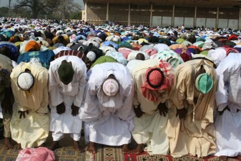 La prière du vendredi en Guinée