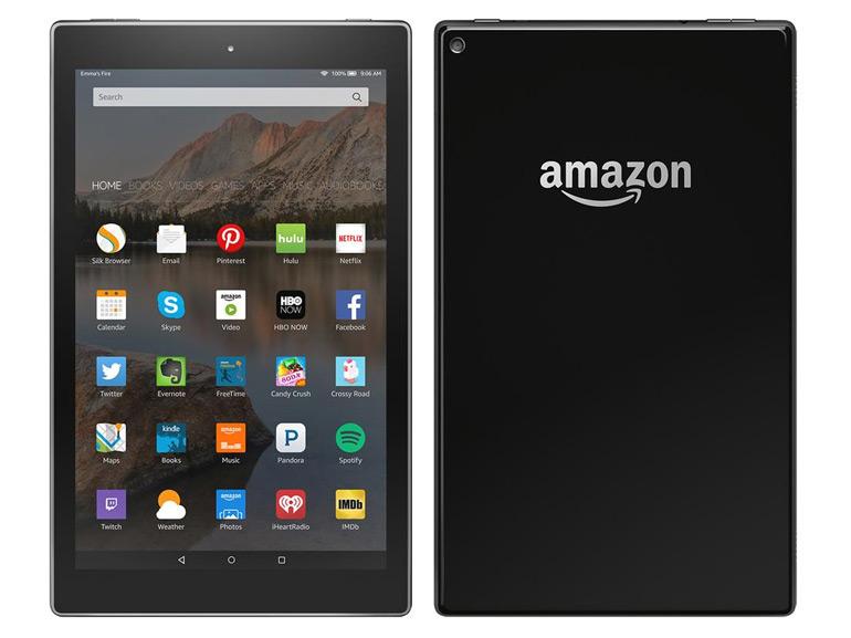 La tablette et les différents objets high-tech de la firme Amazon