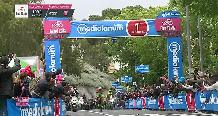 Live vidéo du Tour d'Italie : Replay 4e étape du Giro, vainqueur, classement cyclisme