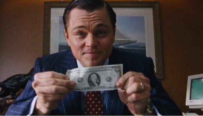 Argent Banque Di Caprio Le Loup de Wall Street
