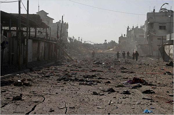 Les rues de Gaza