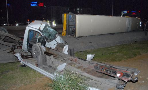 Accident d'un bus sur la RN9 - © TAP