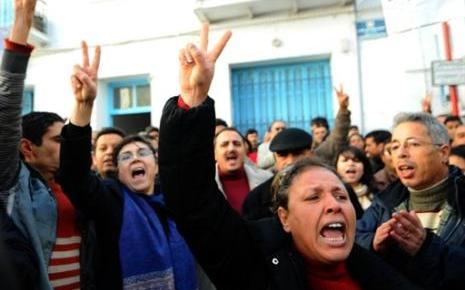 Manifestations en Tunisie