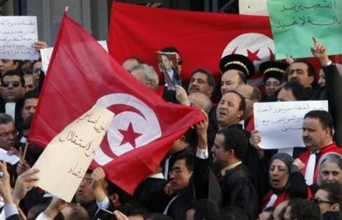Tunisia Judiciary Protest