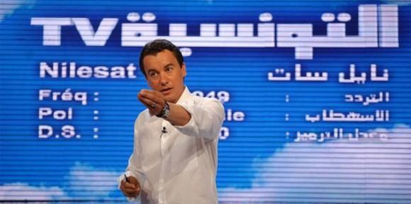 Sami Fehri lors de la conférence pour le pré-lancement de la chaîne Attounissia TV