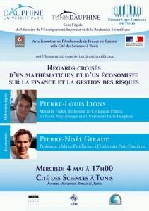 Conférence sur la gestion des risques financiers - Tunis Dauphine