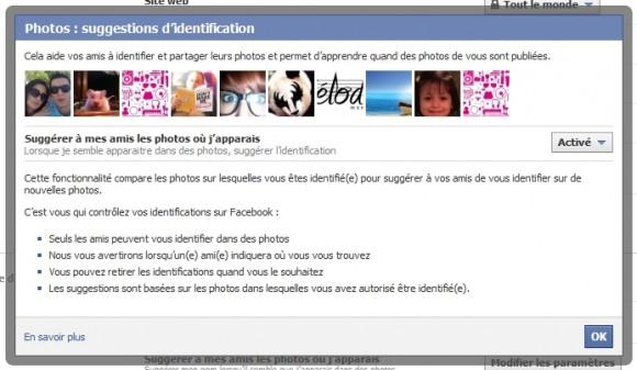 Activation automatique de la suggestion d'amis grâce à la reconnaissance faciale sur Facebook