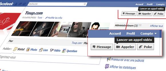 Fonctionnalité de chat audio/vidéo sur Facebook