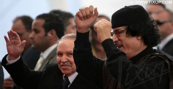 Abdelaziz Bouteflika - Mouamar Kadhafi