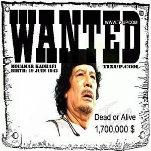 Mouamar Kadhafi : Wanted